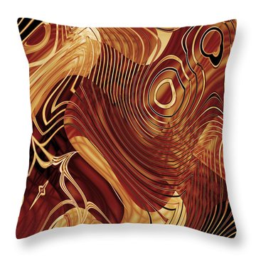 Abstract Artwork Gold 3 Throw Pillow