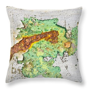 Abstract Grunge Throw Pillow