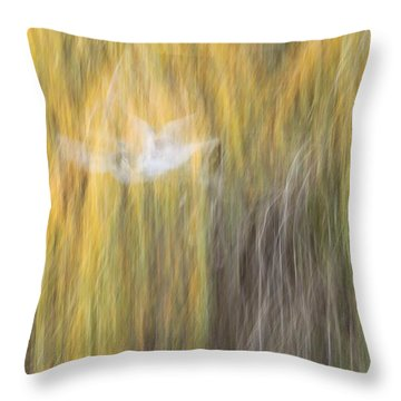 Throw Pillow featuring the photograph Abstract Haze by Amy Gallagher