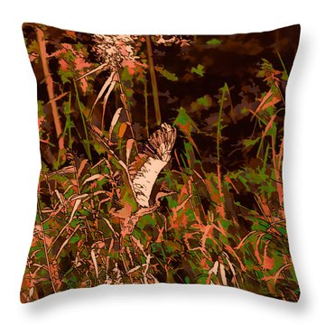 Abstract Heron   Leif Sohlman Throw Pillow by Leif Sohlman