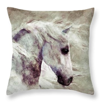 Abstract Horse Portrait Throw Pillow