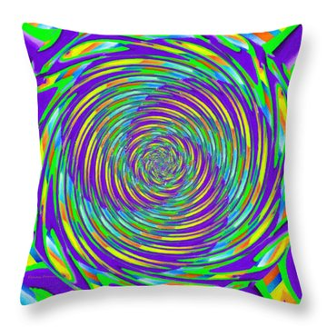 Abstract Hypnotic Throw Pillow by Kenny Francis