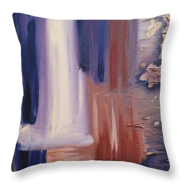 Throw Pillow featuring the painting Abstract I by Donna Tuten