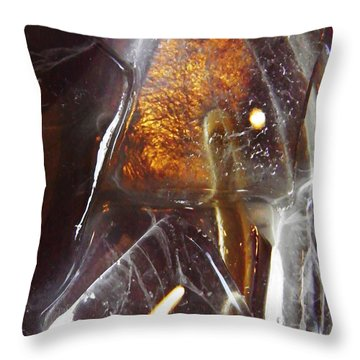 Abstract Ice 4 Throw Pillow by Sarah Loft