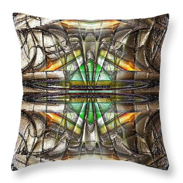 Throw Pillow featuring the digital art Abstract Iced by Mario Carini