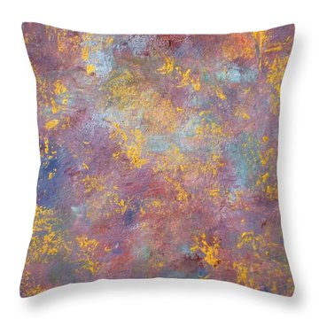 Throw Pillow featuring the painting Abstract Impressions by Donna Dixon