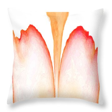 Abstract In Bloom 2 Throw Pillow