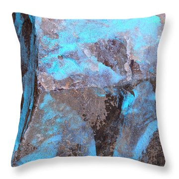 Throw Pillow featuring the photograph Abstract In Blue by M Diane Bonaparte