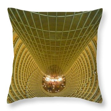 Abstract In Gold Throw Pillow by Alan Socolik