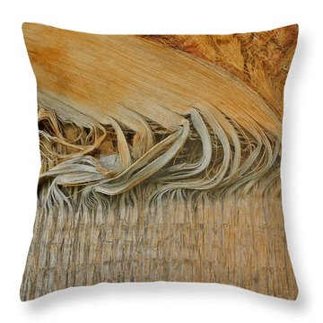 Abstract In Gold And Brown Throw Pillow