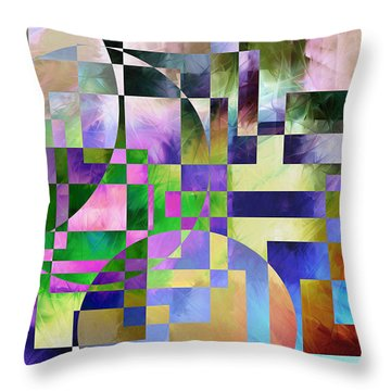 Throw Pillow featuring the painting Abstract In Lavender by Curtiss Shaffer