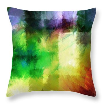 Throw Pillow featuring the painting Abstract In Primary by Curtiss Shaffer