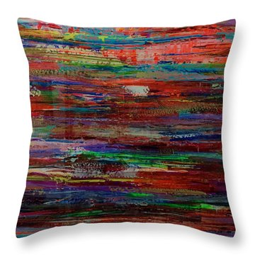 Abstract In Reflection Throw Pillow