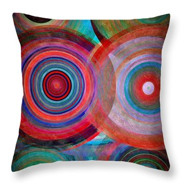 Throw Pillow featuring the mixed media Abstract In Silk  by Gabriella Weninger - David
