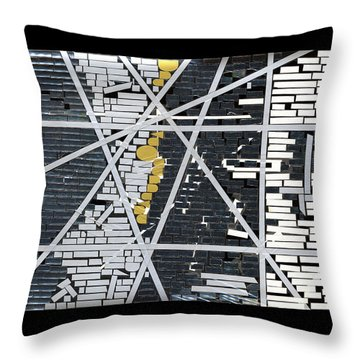 Abstract In Tape And Letterforms 5 Throw Pillow by Agustin Goba