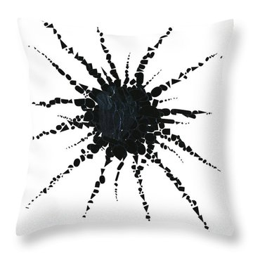 Abstract In Tape And Letterforms Three Throw Pillow by Agustin Goba