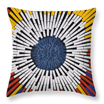 Abstract In Tape - Starburst Throw Pillow by Agustin Goba