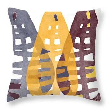 Abstract Indian Corn Throw Pillow by Linda Woods
