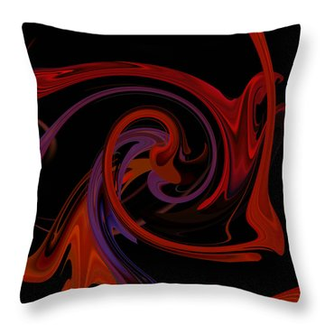 Throw Pillow featuring the digital art Abstract - Just Dandy by rd Erickson