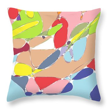 Abstract Throw Pillow by Keshava Shukla