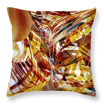 Kimono Silk -  Abstract Art Throw Pillow