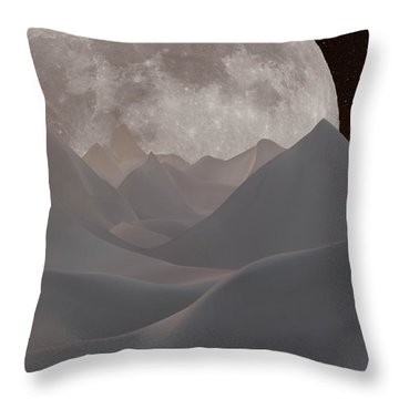 Abstract Landscape #3 Throw Pillow by Wally Hampton