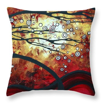 Abstract Landscape Art Original Painting Where Dreams Are Born By Madart Throw Pillow by Megan Duncanson