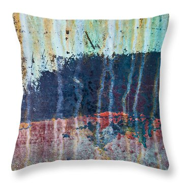 Throw Pillow featuring the photograph Abstract Landscape by Jani Freimann
