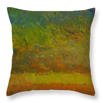 Abstract Landscape Series - Golden Dawn Throw Pillow