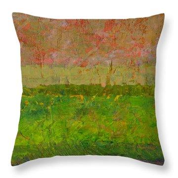 Abstract Landscape Series - Summer Fields Throw Pillow