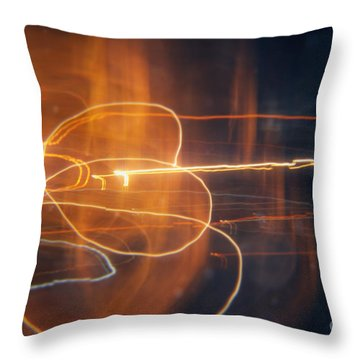 Abstract Light Streaks Throw Pillow by Pixel Chimp