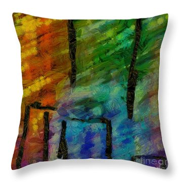 Abstract Lines 11 Throw Pillow