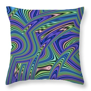 Abstract Lines Throw Pillow by John Edwards