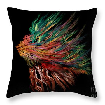Abstract Lion's Head Throw Pillow
