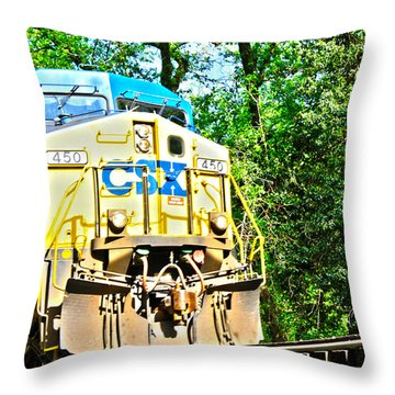 Abstract Loco Throw Pillow by JB Stran