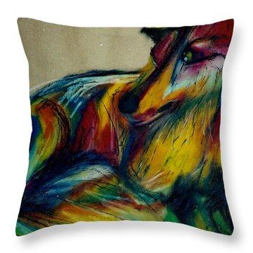 Abstract Lucky Throw Pillow