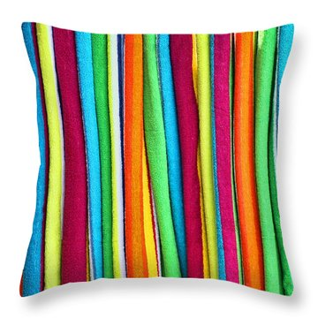 Abstract  Throw Pillow by Marcia Colelli