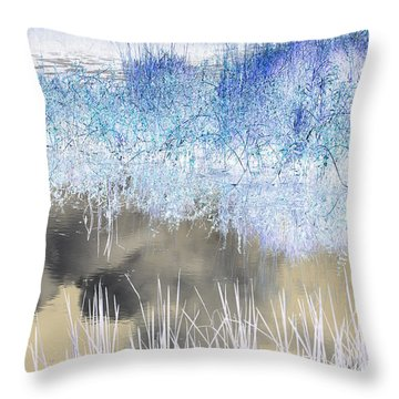 Abstract Marsh  Throw Pillow