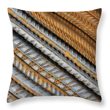 Abstract Metal Texture Pattern Throw Pillow