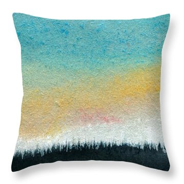 Abstract Minimalist Horizon Throw Pillow by R Kyllo