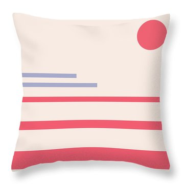 Abstract Minimalistic Landscape Throw Pillow