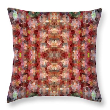 Abstract Mosaic In Red Rainbow Throw Pillow
