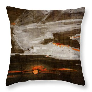 Abstract Motion Behind The Sunset Clouds Throw Pillow