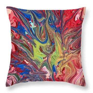 Abstract - Nail Polish - The Meaning Of Life Throw Pillow by Mike Savad