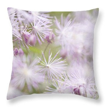 Abstract Nature Pink Burst Throw Pillow by Circe Lucas