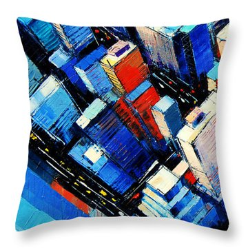Abstract New York Sky View Throw Pillow