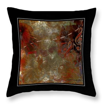 Abstract Notes Throw Pillow