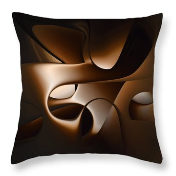 Chocolate - 005 Throw Pillow by rd Erickson