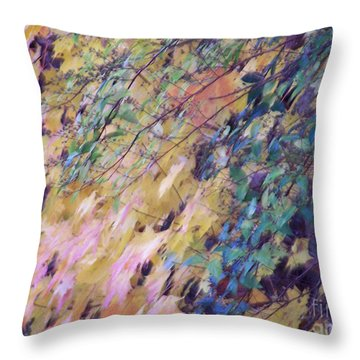 Abstract Of Autumn Throw Pillow