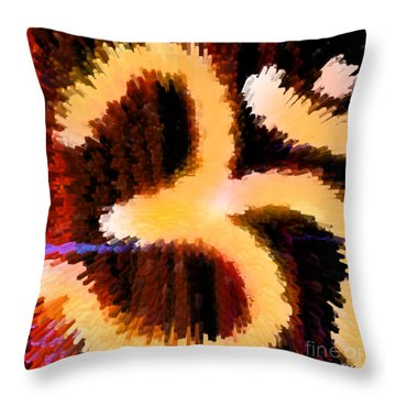 Abstract Om-10 Throw Pillow